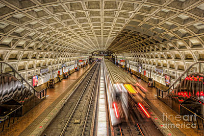 Washington Dc Metro Station Xi Print by Clarence Holmes