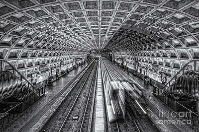 Washington Dc Metro Station Xii Print by Clarence Holmes
