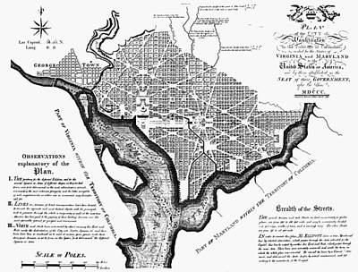Washington, D.c. Plan, 1792 Print by Granger
