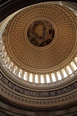 Washington Dc - Us Capitol - 011314 Print by DC Photographer