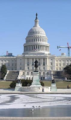 Washington Dc - Us Capitol - 01132 Print by DC Photographer