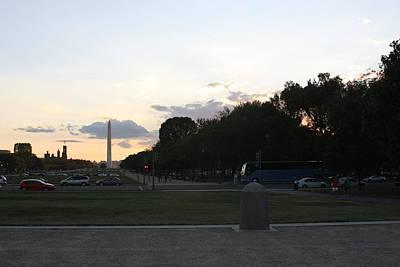 Washington Dc - Washington Monument - 01133 Print by DC Photographer