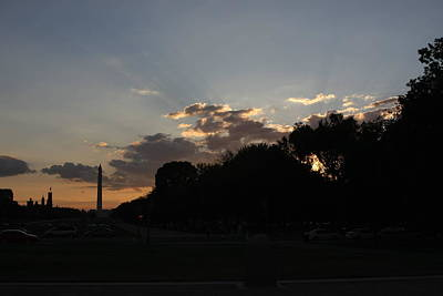 Life Photograph - Washington Dc - Washington Monument - 01134 by DC Photographer