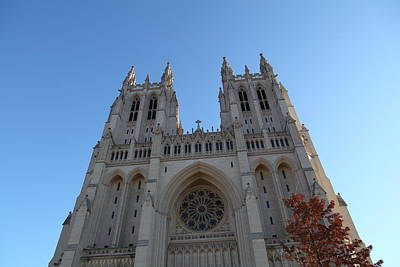 Washington National Cathedral - Washington Dc - 0113116 Print by DC Photographer