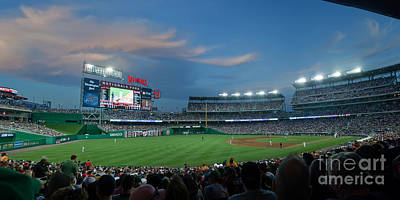 Washington Nationals In Our Nations Capitol Print by Thomas Marchessault