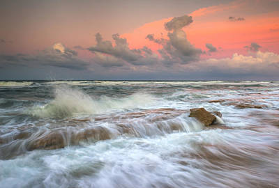 Washington Oaks State Park St. Augustine Fl - The Pastel Sea Print by Dave Allen