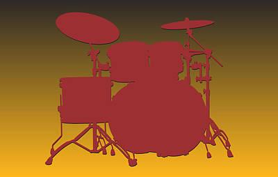Washington Redskins Drum Set Print by Joe Hamilton