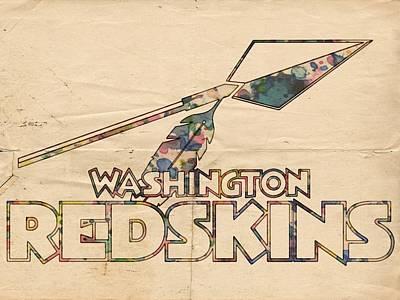 Indians Painting - Washington Redskins Vintage Logo by Florian Rodarte