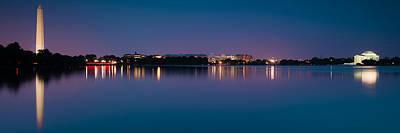 Blues Photograph - Washington Skyline by Sebastian Musial