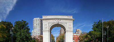 Greenwich Village Photograph - Washington Square Arch In Washington by Panoramic Images