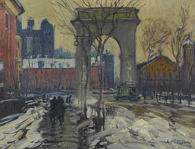 Stencil Art Painting - Washington Square by Celestial Images