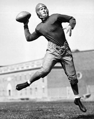 Football Photograph - Washington State Quarterback by Underwood Archives