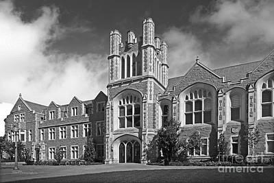 Washington University Anheuser- Busch Hall Print by University Icons