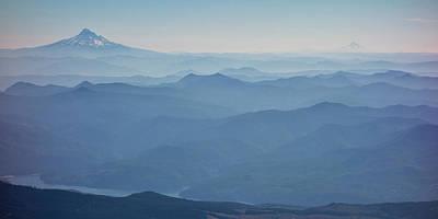 Washington View From Mount Saint Helens Print by Matt Freedman