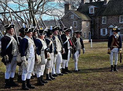 Battle Of Trenton Photograph - Washington's Crossing Continentals by Steven Richman