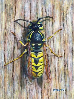 Wasp Painting Original by Marion Yeo