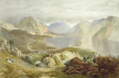 Rod Drawing - Wast Water, From The English Lake by James Baker Pyne