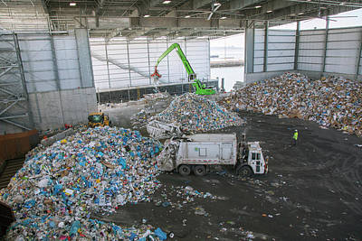 Waste Photograph - Waste Arriving At A Recycling Centre by Peter Menzel
