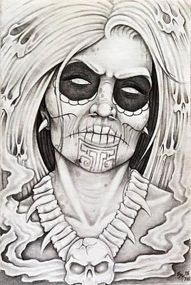 Dark Evil Scary Drawing - Watcher by Omar Boke