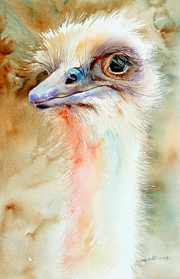 Emu Painting - Watchful Emu by Arti Chauhan