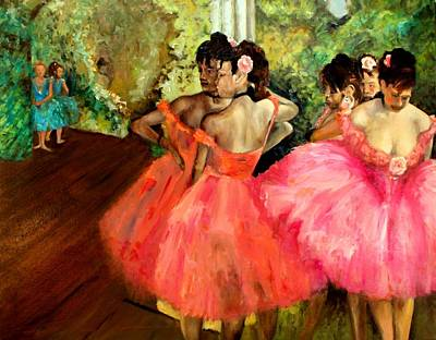 Behind The Scenes Painting - Watching Degas by Graham Keith