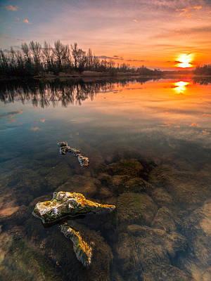 Watching Sunset Print by Davorin Mance