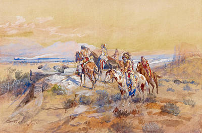 PW0 WESTERN ART POSTER On The Prowl PRINT IMAGE PHOTO Charles M Russell NEW