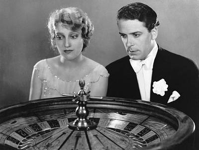 Watching The Roulette Wheel Print by Underwood Archives