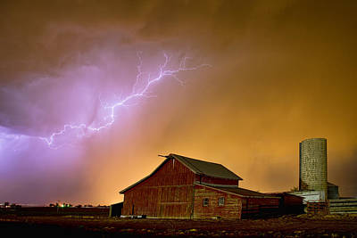 James Insogna Photograph - Watching The Storm From The Farm by James BO  Insogna