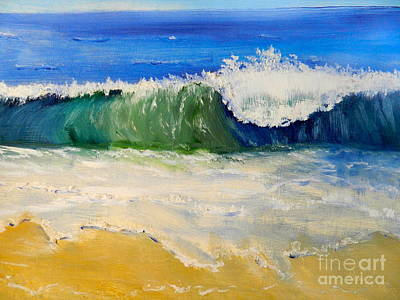 Watching The Wave As Come On The Beach Original by Pamela  Meredith