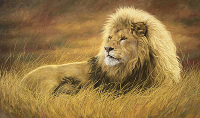 The Big Five Painting - Watching The Horizon by Lucie Bilodeau