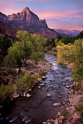 Southern Utah Photograph - Watchman  Tower Zion Sunrise by Dave Dilli