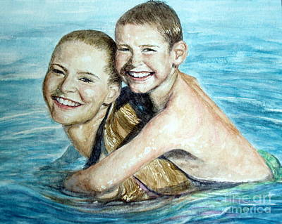 Boys Swimming Painting - Water Babies by Joey Nash