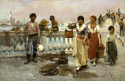 Carrier Painting - Water Carriers. Venice by Frank Duveneck