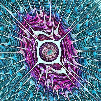 Dragon Painting - Water Dragon Eye by Anastasiya Malakhova