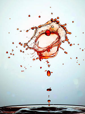 Water Drops Collision Liquid Art 15 Print by Paul Ge