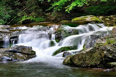 Water Fall 2 Print by Todd Hostetter
