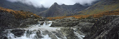 Glen Brittle Photograph - Water Falling From Rocks, Sgurr by Panoramic Images