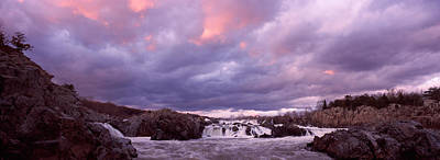 Water Falling Into A River, Great Falls Print by Panoramic Images
