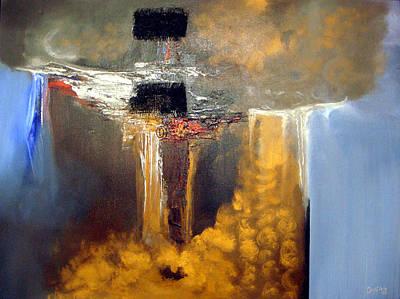 Water Falls Print by Hermes Delicio