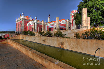 Stone Trough Photograph - Water Feature Palacio De Estoi by English Landscapes
