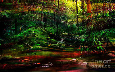 Forest Mixed Media - Water Flow by Marvin Blaine