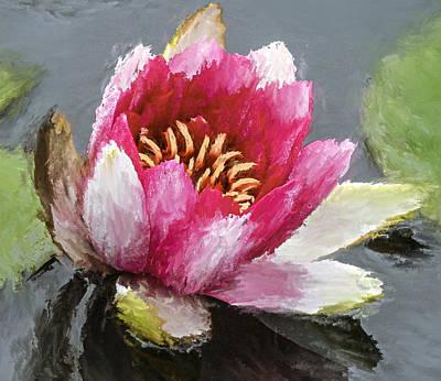 Water Flower Impression Print by Yury Malkov