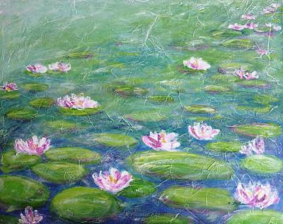 Pond Painting - Water Lilies by Cristina Stefan