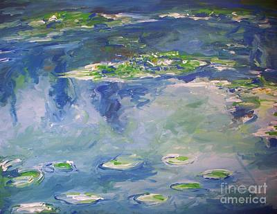 Water Lilies Giverny Print by Eric  Schiabor