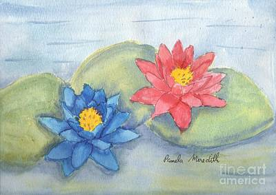 Water   Lillies  Original by Pamela  Meredith