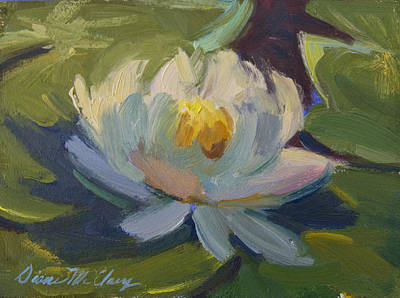 Water Lily 2 Print by Diane McClary