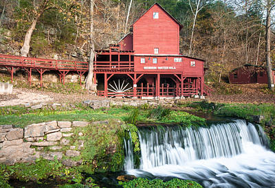 Grist Mill Photograph - Water Mill In Missouri by Gregory Ballos