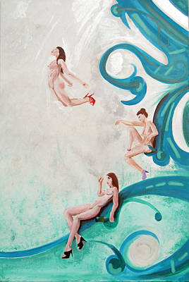 Water Nymphs Print by Lorinda Fore and Tony Lima