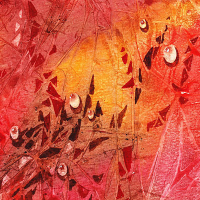 Abstract Movement Painting - Water On Color Design Seven by Irina Sztukowski